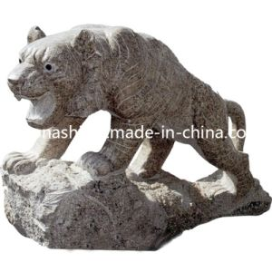 Natural Stone Animal Carving Statue, Leopard Art Sculpture for Garden pictures & photos