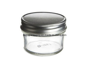4oz Eco Mason Tapered Glass Jar with Silver Lid