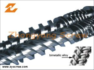 Recycled Plastic Twin Screw and Barrel Bimetallic Parallel Paralleltwin Screw Barrel pictures & photos