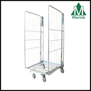 Two Sided Roll Cage for Warehouse Storage / Warehouse Trolley pictures & photos