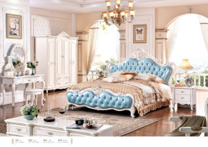 French Bedroom Sets, Kind Size Europe Style Bed (6021) pictures & photos