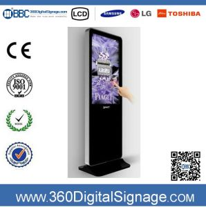 47 Inch HD Indoor Floor Type Advertising Players Digital Signage with Network 3G/WiFi for Gas Station