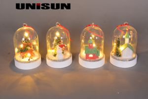 Christmas Decoration Light Glass Craft with Copper String LED Light for Wall Art (18002) pictures & photos