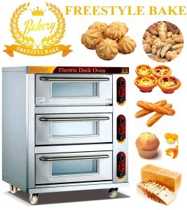 3 Trays Electric Oven in Bakery Oven with 3 Decks (WDL-3-3)