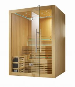 Dry Steam Luxury Window Solid Red Cedar Wood Sauna (M-6030) pictures & photos