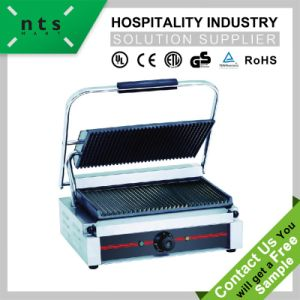 Electric Contact Grill (Top & Down Grooved Plate) Grill Surface with Enamel Coating pictures & photos