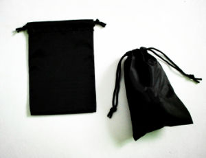 Black Cotton Drawstring Bag for Christmas Gift pictures & photos