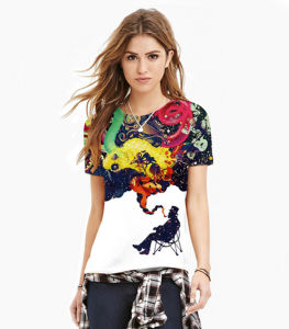 Bulk New Design Fit Colorful Digital Printing Girl′s T Shirt pictures & photos