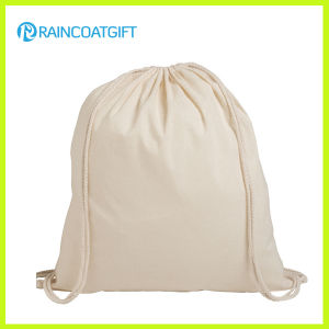 Custom-Made New Design Eco Cotton Backpack Drawstring Bag pictures & photos