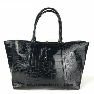 New Fashion Crocodile Grain PU Shopping Bag Women Tota Bag pictures & photos