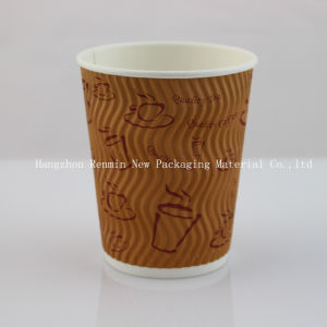 Corrugated Ripple Wall Paper Cup for Hot Coffee Cup pictures & photos