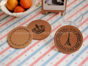 2017 New Promotional Cheap Soft Wood Cork Coaster pictures & photos
