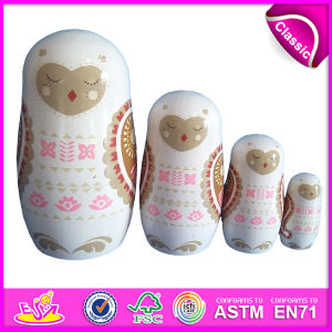 2014 New Products Matryoshka Dolls for Kids, Quality Products Matryoshka for Children, Handmade Russian Matryoshka Dolls Factory W06D035 pictures & photos
