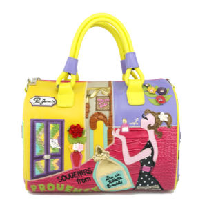 The Most Fashion Leather Women Tote Cartoon Doctor Bag pictures & photos