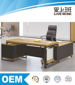 Steel Leg L Shape Modern Office Desk pictures & photos