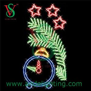Clock Motif Christmas Decoration Light Street Pole Motif Light pictures & photos