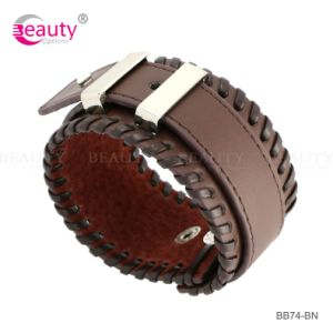 Fashion Design Genuine Leather Cuff Bracelet for Men Hot Sales in Europe /American Market