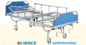 Staniless Steel Manual Hospital Bed with Two Functions pictures & photos