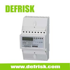 Three Phase 4 Modular DIN Rail Energy Meter, Three Phase Electronic Meter