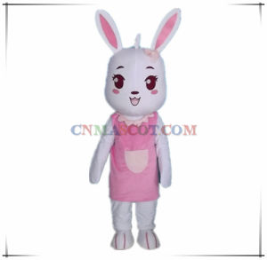 Pretty Animal Rabbit Mascot From Authentic Factory