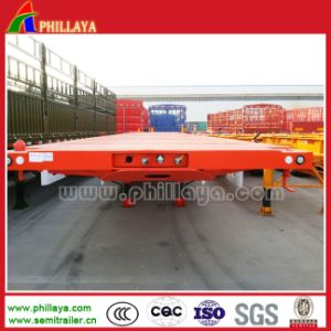 12.5m Three Axles Transport Container Truck Trailer pictures & photos