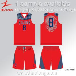 Healong Sublimation Print European Size Fashion Design Basketball Uniforms pictures & photos