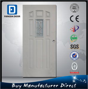 Fangda 8 Panel Steel Frosted Glass Inner Door pictures & photos
