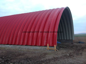 240 Color Steel Long Span Arch Shape Steel Roof Building Roll Forming Machine pictures & photos