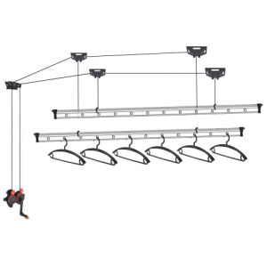ceiling mounted hand operated lifting clothes hanger dryer drying rack