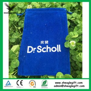 High Quality Blue Double Velvet Bag with Round Bottom pictures & photos