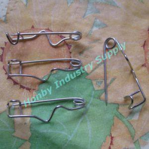 """Tiny 1"""" (25mm) Badge Holder Z Back Metal Crimp Pin"""