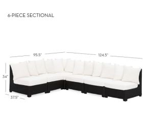 Luxury 6 Piece Sofa Seating Group with Cushion pictures & photos