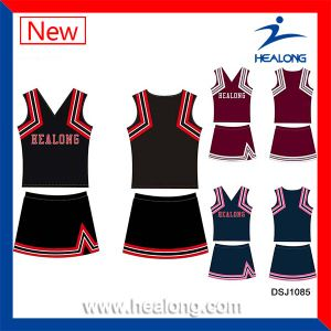 Healong Quick Dry Polyester Digital Print Clothing Cheerleader Uniform pictures & photos