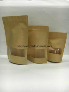 Stand up Zipper Flat Bottom Coffee Bag with Valve pictures & photos