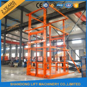 2018 New Design Goods Lift Vertical Hydraulic Guide Rail Lift pictures & photos