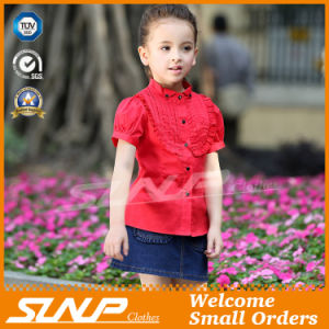 Cute Kids Wear Girls Summer Costume Cotton Shirts pictures & photos