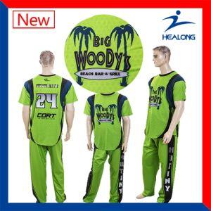 Healong Sublimated Custom Design Team Shirts Baseball Jersey pictures & photos