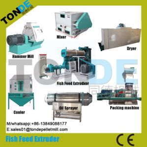 Ce Screw Dry Floating Fish Food Pellet Production Line pictures & photos
