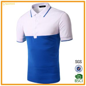 Custom Made Pique Striped Men′s Polo Shirts (OEM) pictures & photos