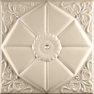 China Suoya 1094-2 Fireproof Decorative Leather 3D Wall Panel Interior Decor pictures & photos
