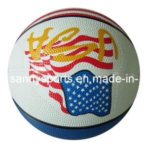 High Quality Colorful Printed Rubber Basketball pictures & photos