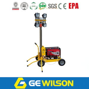 Small Light Tower with Portable Generator in Construction pictures & photos
