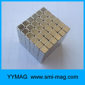 N35 5mm 216 Nickel Coated Neodymium Magnetic Neo Cube Block Magnet pictures & photos