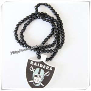 Plastic Pendant with a Plastic Beaded Necklace Chain (IO-wn004) pictures & photos