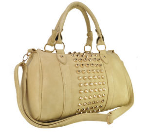 China Wholesale Fashion PU Rivet Shoulder Hand Bag pictures & photos