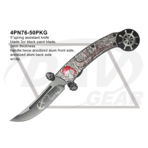 "5"" Closed Folding Fantasy Knife with Twice Anodized (pink&grey) pictures & photos"