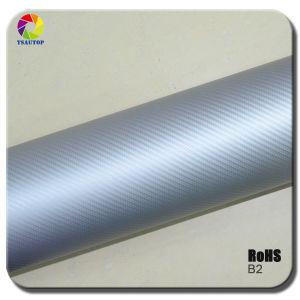 Tsautop 3D Carbon Fiber Vinyl for Car Wrapping& Silver B1b pictures & photos
