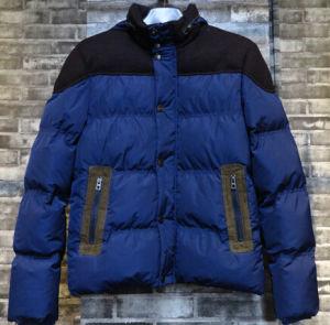 New Design Contrast Men Down Zipper Pockets Padding Jackets pictures & photos