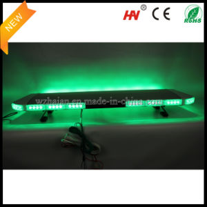 Green LED Emergency Warning Lightbar in Silver Aluminum Dome pictures & photos