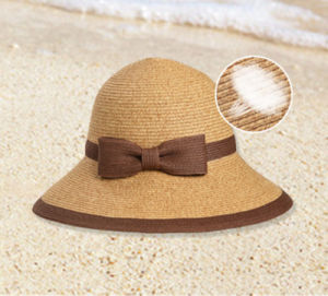 Custom Wholesale Summer Sunshade Straw Sunscreen Beach Hat pictures & photos